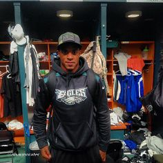 @shaunprater in the locker room with #athleticrecon hat. Thanks for the love. #philly #eagles #nfl #shaunprater