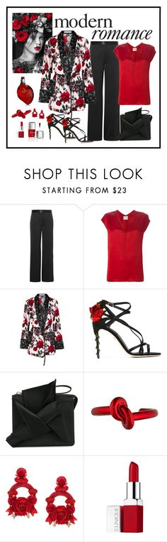 """Equipment Theron Floral Print Kimono Jacket Look"" by romaboots-1 ❤ liked on Polyvore featuring Victoria Beckham, Forte Forte, Equipment, Dolce&Gabbana, N°21, Couture Colour, Ranjana Khan and Clinique"