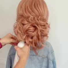 """BRIDAL HAIRSTYLIST on Instagram: """"🌸 HAIR TUTORIAL TIME!!!! 🌸 Soft Romantic Upstyle!!!!💕💕 ⭐️Here is a quick and effective way to create that soft Airy texture in the hair!…"""" Baby Girls, Romantic, Texture, Long Hair Styles, Bridal, Create, Beauty, Instagram, Hair Makeup"""