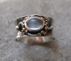 Anticlastic Silver and Gold Ring with by GarciaAlfaroArtJewel, $185.00