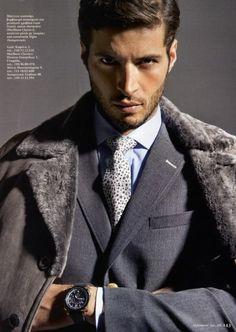 Winter clothes.  Amazing Leandro Lima