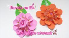 Flor em EVA para apliques artesanais passo a passo