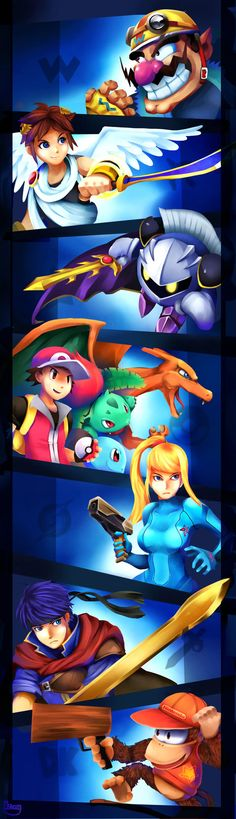Smash Brothers Newcommers.1 by zgul-osr1113 on DeviantArt