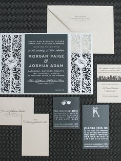 Black and white wedding invitation from Spark