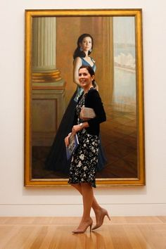 Princess Mary with her portrait by Jaiwei Shen.