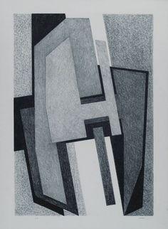 Composizione Litografia, mm.700x500; es. p.a