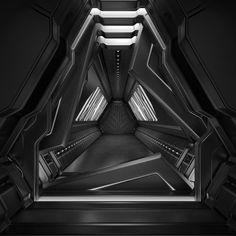Sci Fi Tunnel 3D Model by Roman Pritulyak, via Behance