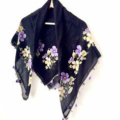 Spring Scarves, Scarf Summer, Beach Scarf, Types Of Lace, Lace Wrap, Bohemian Accessories, Turban Headbands, Floral Scarf, Cotton Scarf