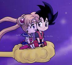 Sailor Moon and Goku / A whole new world by *Euphoric-Geek on deviantART