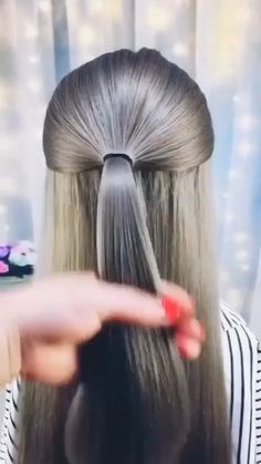 Hairdo For Long Hair, Easy Hairstyles For Long Hair, Pretty Hairstyles, Girl Hairstyles, Hairdos, Updos, Girl Hair Dos, Kid Hair, Hair Up Styles