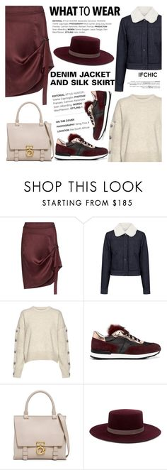 """""""What to wear: DENIM JACKETS AND SILK SKIRTS"""" by ifchic ❤ liked on Polyvore featuring Public School, Paul & Joe Sister, Nili Lotan, Pollini, 10 Crosby Derek Lam, Janessa Leone and contemporary"""