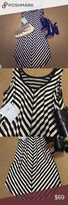 Athleta Dress Brand new Athleta Dress. San Reno Striped Dress Skirt. Size xs. But fits more like a Small. Athleta Dresses Asymmetrical