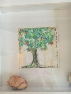 Akvarell til Charlotte 2007- 17 år -som et blomstrende epletre..