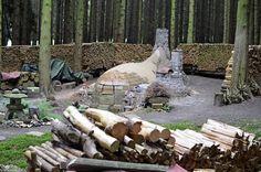 "Masaaki Gas Kimishima's new anagama ""Moby"" in the woods, UK James Hazelwood photo."