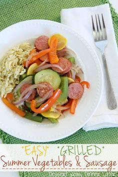{Dessert Now, Dinner Later!} Easy Grilled Summer Vegetables