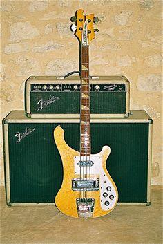 Rickenbacker and Fender Bassman