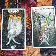 Cool exercise from @tarotprofessionals on Facebook. Find stillness and shuffle the cards. Focus on the question What am I lacking in my life right now? Pick a card and shuffle again focusing on the question What can I do this weekend to bring more of this into my life? My outcome:  What is missing from my life? The Devil reversed. I see this as twofold. Point 1 is kind of avoiding things I am addicted to. Chocolate anyone? But also letting myself free! Im always bound always working. I need…