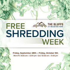 We've partnered with Shred-It to offer a FREE week of document shredding for all of our residents starting next Friday! Bring your documents to the leasing office & take advantage of these complimentary shredding services. Lake Oswego Oregon, Document Shredding, Leasing Office, Mountain Park, Cool Apartments, Friday, Tours, Learning, Free