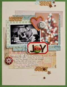 Great combination of patterns on this fun holiday layout!