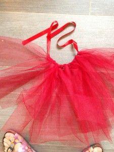 DIY Costume pour enfant Tutu - sans couture - Fait maison - tulle - princesse / fée / danseuse / ballerine