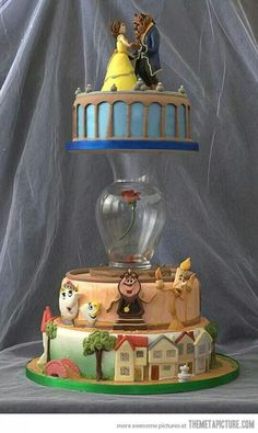 Beauty and the Beast cake, until the last petal  falls.
