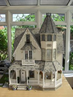 "Victoria Villa (jt-front view of this lovely house) Isn't this the Greenleaf ""Garfield model""?"