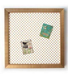 Mikey Lin´s Gold Polka Dots Magnet Board
