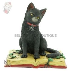 Nemesis Now Eclipse Black Cat Coven Witch Spell Wiccan Gothic Ornament Gift Home & Garden Witch Spell Book, Witch Coven, Gothic, Christmas Note, Wiccan Witch, Witch Cat, Kawaii, Here Kitty Kitty, Cat Sitting