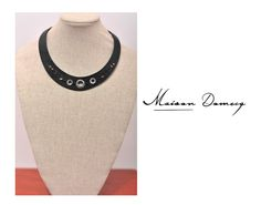 Collar/Necklace BLONDIE #shine #style #fashion #collection #leather #maisondomecq #woman