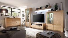 Wohnwand Madeira 1 mit Sideboard Holz Eiche 9202. Buy now at https://www.moebel-wohnbar.de/wohnwand-madeira-1-mit-sideboard-holz-eiche-9202.html