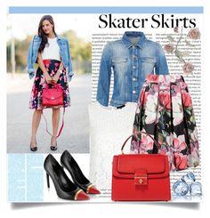 """Skater skirts"" by sabina-94-cxx ❤ liked on Polyvore featuring moda, Hallhuber, Dolce&Gabbana, Yves Saint Laurent ve skaterSkirts"