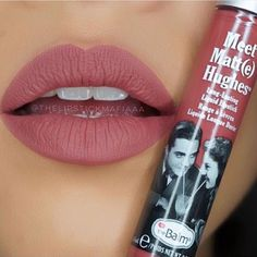 "Meet Matt(e) Hughes Long-Lasting Liquid Lipstick in ""Charming"" is absolutely mauve-elous! Photo credit to @thelipstickmafiaaa #thebalm #thebalmcosmetics #lips #liquidlipstick #mauve #makeup #glam"