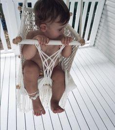 Natural Macrame Fair Trade Baby Swing