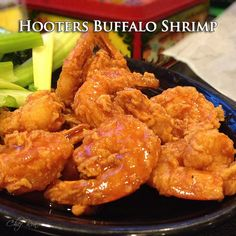 Hooters Buffalo Shrimp recipe. This shrimp recipe sounds fantastic!! If I never end up making this, I will head straight to Hooters when I go back to the US !! Do you Think they will believe me if I say I'm just there for the shrimp and not the 'scenery '?!? #copycat #hooters #buffalo