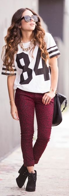 #Red #Leopard #Jeans.... by Nany's Klozet