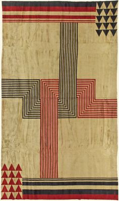 Perfect authentic vintage rugs and antique rugs from DLB New York. Vintage rugs are decorative heavy textiles that were created at least 30 years ago. Bauhaus Textiles, Motifs Textiles, Textile Patterns, Design Textile, Textile Art, Tapetes Art Deco, French Art Deco, Art Deco Rugs, Quilt Modernen