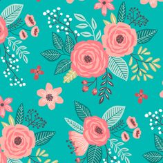 Vintage Antique Floral Flowers  fabric by caja_design on Spoonflower - custom fabric