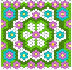 (7) Name: 'Quilting : Hexagon Quilt Layout