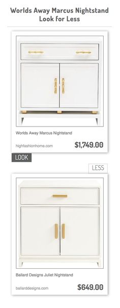 Worlds Away Marcus Nightstand vs Ballard Designs Juliet Nightstand