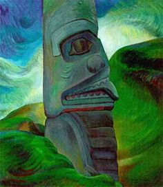 Totem painting by Emily Carr