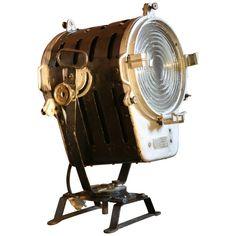 1stdibs Floor Lamp - 1950S Theater Film Spotlight Model Rf 250 No.2 Polish Industrial Steel, Iron Industrial Floor Lamps, Modern Floor Lamps, Cast Steel, Floor Standing Lamps, Steel Sheet, Stage Lighting, Work Lights, Vintage Industrial, Spotlight