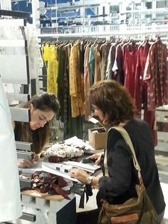 Grazia'Lliani Team at work during the SUPER Pitti Immagine exhibition 2015 in Milan. Visit www.grazialliani-shop.com and check out our stunning #Loungewear & #Nightwear collections.