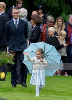 Prince Daniel, Duke of Vastergotland and Princess Estelle of Sweden at the 38th birthday celebrations for Crown Princess Victoria at Solliden on July 14, 2015 in Oland, Sweden.