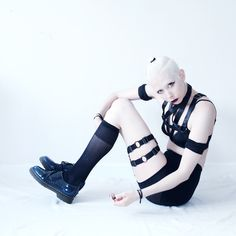 """Jenny Mustard styling her TEALE COCO """"PENTAGRAM"""" harness and """"UFO"""" thigh garter…"""