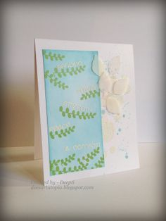 Lovely branches and embossed sentiments. A wonderful card from guest designer Deepti.  www.cas-ualfridaysstamps.com