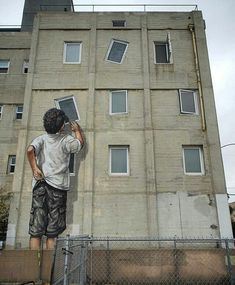 RT GoogleStreetArt: New Street Art by Ernest Zacharevic found in Long Beach…