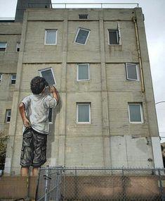 RT GoogleStreetArt: New Street Art by Ernest Zacharevic found in Long Beach�