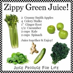 Zippy Green Juice Recipe ~ something about fresh made green juice that gets rid of my anxiety or helps me feel better if I'm 'off.'