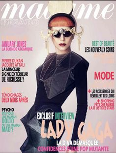 Lady GAGA for Madame Figaro styled by Nicola Formichetti! AMAZING!! — with Mercura NYC Moon Sunglasses  April 2011