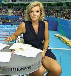 Helen Skelton, causing a splash at the Rio Olympics, uk tv presenter